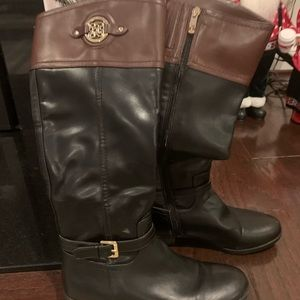 Two tone equestrian boots